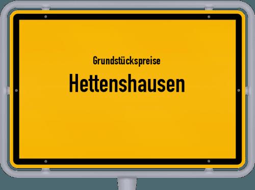 Grundstückspreise Hettenshausen 2019