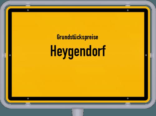 Grundstückspreise Heygendorf 2019