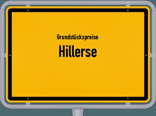 Grundstückspreise Hillerse 2019