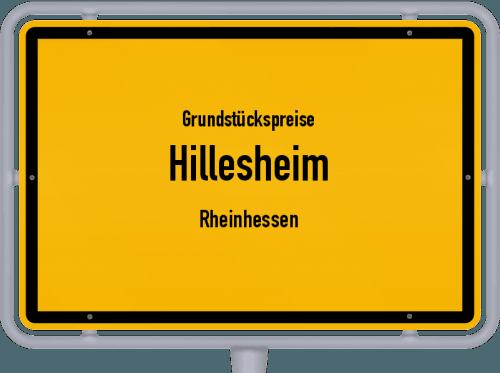 Grundstückspreise Hillesheim (Rheinhessen) 2019