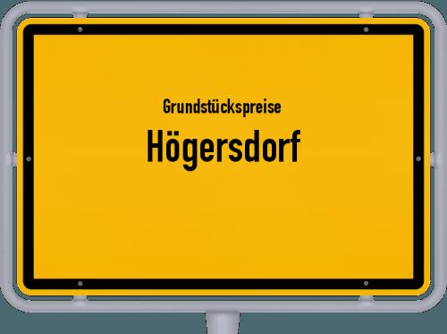 Grundstückspreise Högersdorf 2021