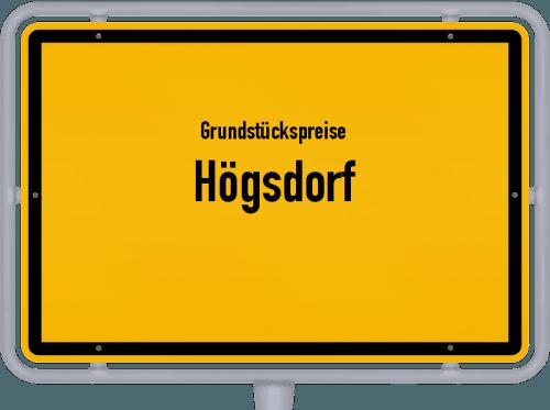 Grundstückspreise Högsdorf 2021