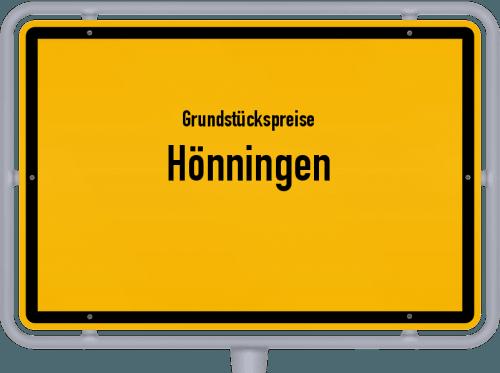 Grundstückspreise Hönningen 2019