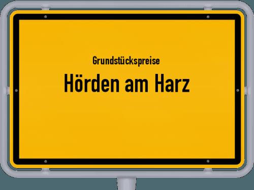 Grundstückspreise Hörden am Harz 2019