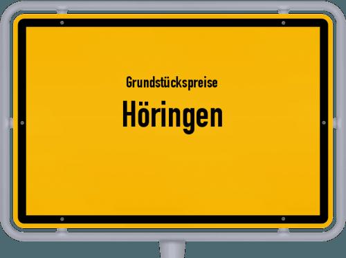 Grundstückspreise Höringen 2019