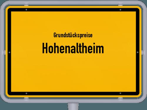 Grundstückspreise Hohenaltheim 2021