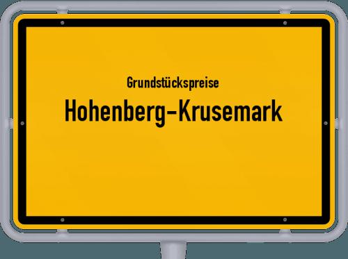 Grundstückspreise Hohenberg-Krusemark 2021