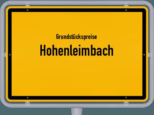 Grundstückspreise Hohenleimbach 2019