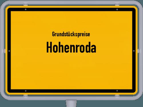 Grundstückspreise Hohenroda 2018