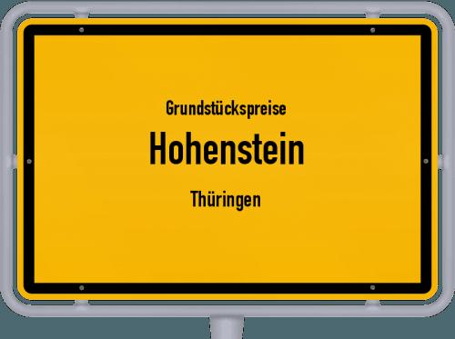 Grundstückspreise Hohenstein (Thüringen) 2019