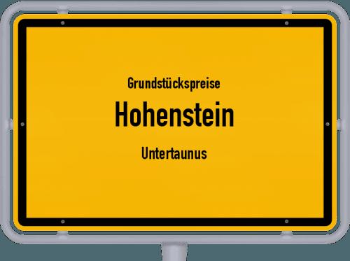 Grundstückspreise Hohenstein (Untertaunus) 2020