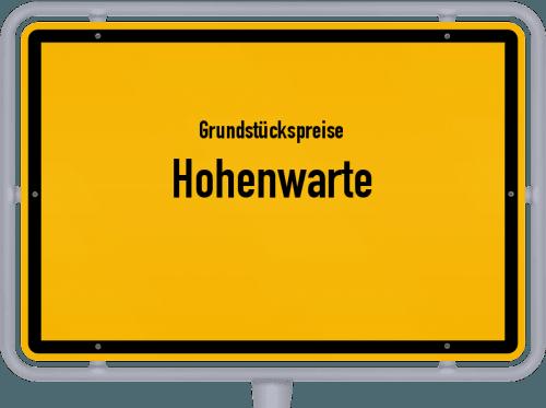 Grundstückspreise Hohenwarte 2019
