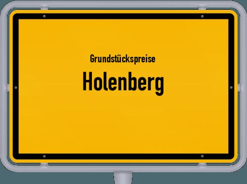 Grundstückspreise Holenberg 2021