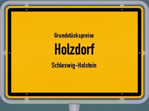 Grundstückspreise Holzdorf (Schleswig-Holstein) 2021