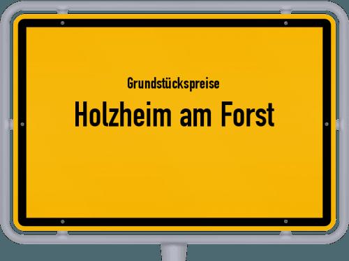 Grundstückspreise Holzheim am Forst 2019