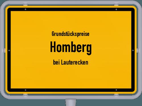 Grundstückspreise Homberg (bei Lauterecken) 2019