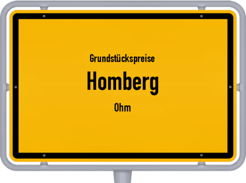 Grundstückspreise Homberg (Ohm) 2019