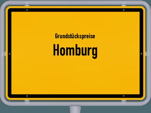 Grundstückspreise Homburg 2020