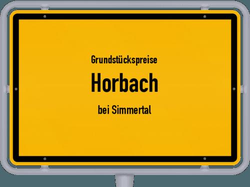 Grundstückspreise Horbach (bei Simmertal) 2019