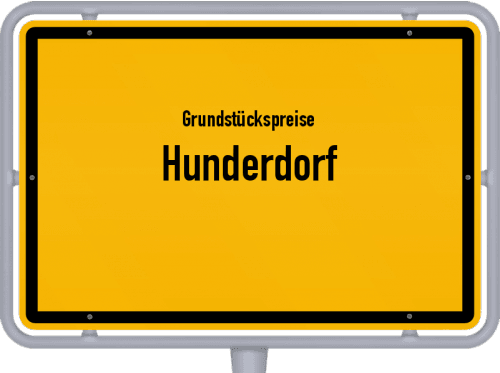 Grundstückspreise Hunderdorf 2019