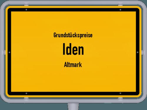 Grundstückspreise Iden (Altmark) 2021