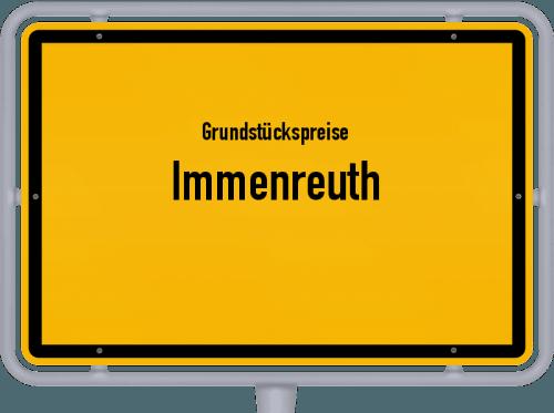 Grundstückspreise Immenreuth 2019