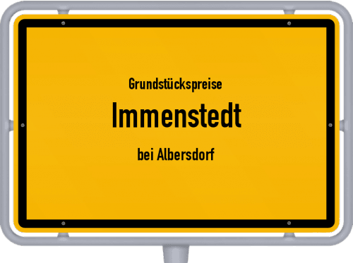 Grundstückspreise Immenstedt (bei Albersdorf) 2021