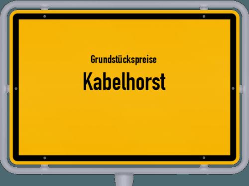 Grundstückspreise Kabelhorst 2021
