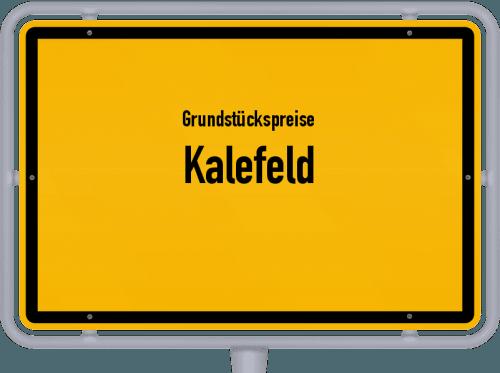 Grundstückspreise Kalefeld 2021