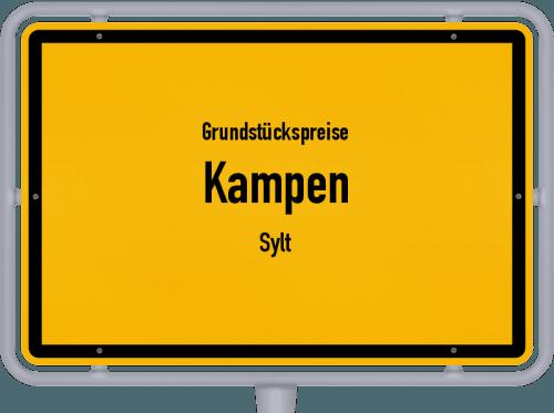 Grundstückspreise Kampen (Sylt) 2021