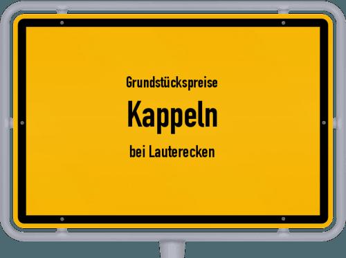 Grundstückspreise Kappeln (bei Lauterecken) 2019