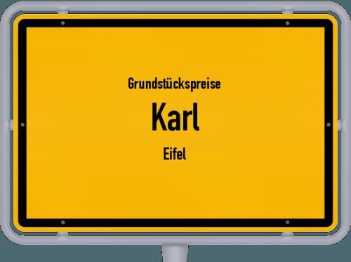 Grundstückspreise Karl (Eifel) 2019