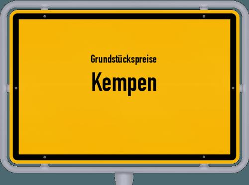 Grundstückspreise Kempen 2021