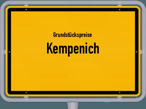 Grundstückspreise Kempenich 2019