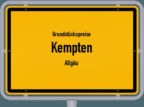 Grundstückspreise Kempten (Allgäu) 2019