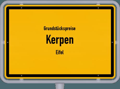 Grundstückspreise Kerpen (Eifel) 2019