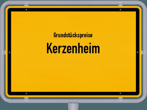 Grundstückspreise Kerzenheim 2019