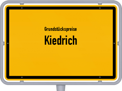 Grundstückspreise Kiedrich 2020