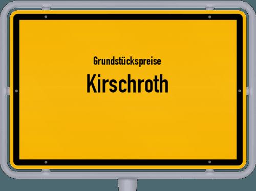 Grundstückspreise Kirschroth 2019