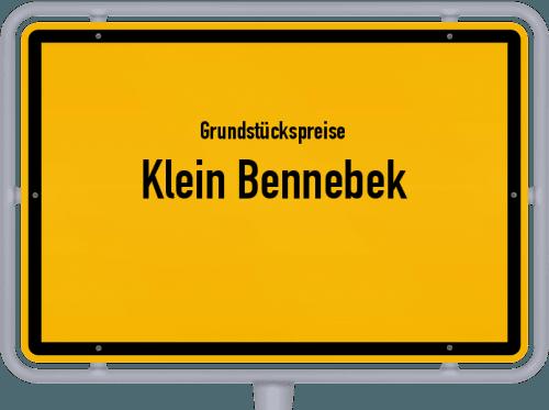 Grundstückspreise Klein Bennebek 2021