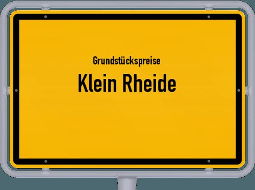 Grundstückspreise Klein Rheide 2021
