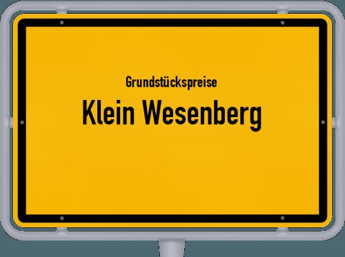Grundstückspreise Klein Wesenberg 2021