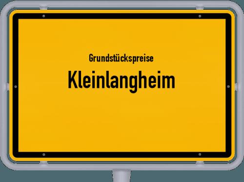 Grundstückspreise Kleinlangheim 2019