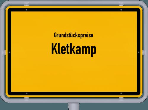Grundstückspreise Kletkamp 2021