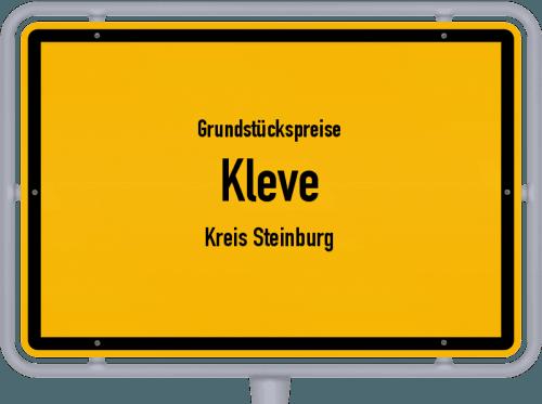 Grundstückspreise Kleve (Kreis Steinburg) 2021