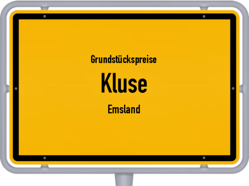 Grundstückspreise Kluse (Emsland) 2019