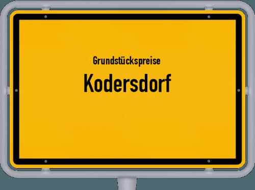 Grundstückspreise Kodersdorf 2019