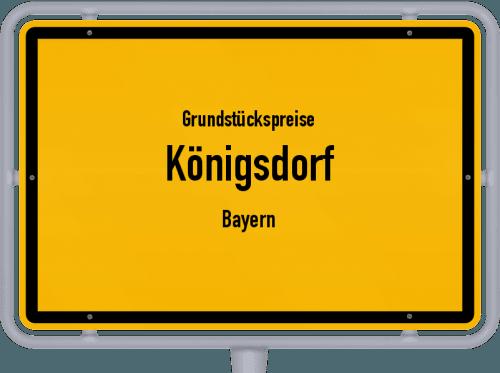 Grundstückspreise Königsdorf (Bayern) 2021