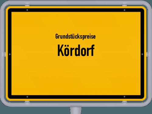 Grundstückspreise Kördorf 2019