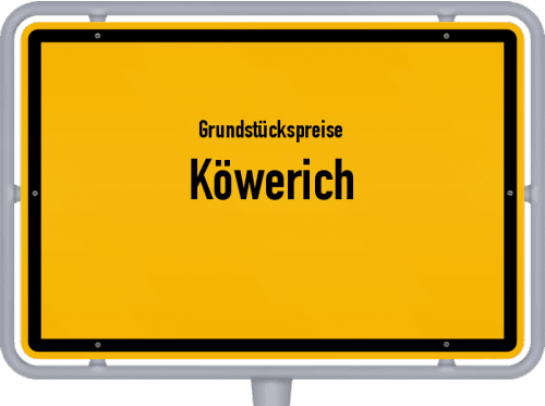 Grundstückspreise Köwerich 2019